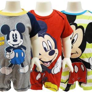ベビー服 ボディースーツ ディズニー ミッキーマウス ロンパース Tオール オールインワン 新生児 出産祝い 50cm 60cm 70cm セール|couchetot-for-child