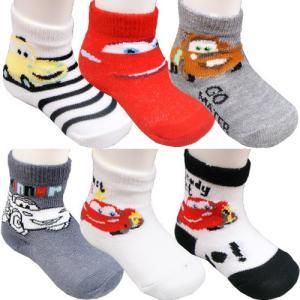 ベビー ソックス ブーティ Disney ディズニー カーズ 靴下 6足セット 0/6ヶ月 約7〜9cm 出産祝い|couchetot-for-child