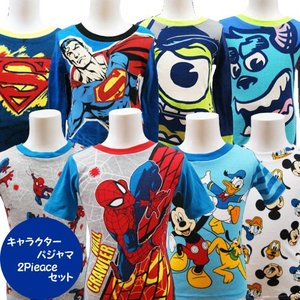 Disney ディズニー ミッキーマウス モンスターズインク アメコミ スパイダーマン 子供 キッズ パジャマ 寝巻 2着セット 90cm 100cm 110cm 120cm 130cm|couchetot-for-child