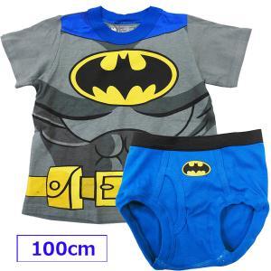 BATMAN バットマン なりきり Tシャツ&ブリーフ セット 2/3才 95cm 90cm下着 アンダーウェア 男の子 子供 こども パンツ【アメリカ買付商品】 couchetot-for-child