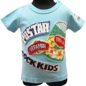 【メール便発送で送料無料!!】PO★STAR ポスター フルーツ缶アップリケTシャツ 90cm couchetot-for-child