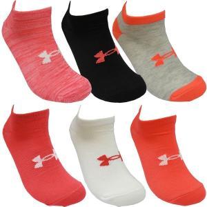 UNDER ARMOUR アンダーアーマー レディースソックス 靴下 スニーカーソックス ソックス 6足セット 23〜25cm|couchetot-for-child