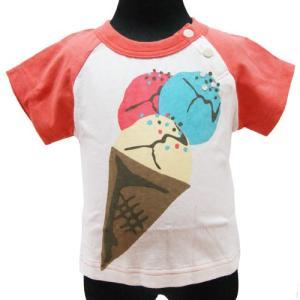 【メール便発送で送料無料!!】PLEASEONE プリーズワン アイスクリームTシャツ 90cm couchetot-for-child