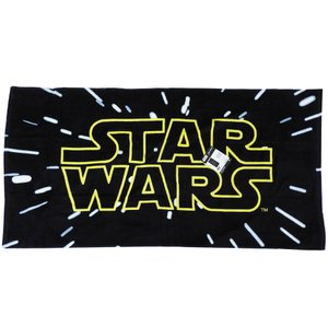 STARWARS スターウォーズ ロゴ タオルケット お昼寝ケット 大判タオル 70×140cm