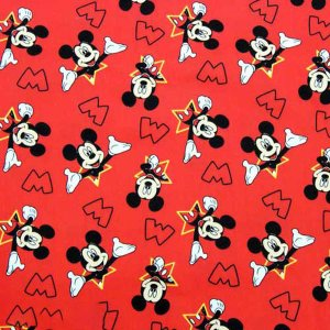 Disney ディズニー ミッキーマウス 生地 切り売り ハンドメイド 手作り キャラクター 入園 入学 通園 通学 手作り 衣装 パジャマ|couchetot-for-child