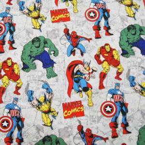 MARVEL マーベル コミック アメリカンヒーロー アメコミ 生地 切り売り ハンドメイド キャラクター 入園 入学 通園 通学 手作り 衣装 パジャマ|couchetot-for-child