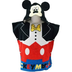Disney ディズニー ミッキー ミニー SPIDERMAN スパイダーマン フード付き  ポンチョ タオル プールタオル 湯上りタオル|couchetot-for-child