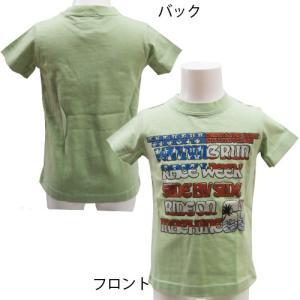【メール便発送指定で送料無料】DonkeyJossy ドンキージョッシー ラメ入り アメリカンプリントTシャツ 100cm|couchetot-for-child