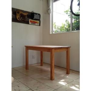 ハンドメイド アンティークパイン仕上げ カントリーベーシックテーブル 128×70高さ73|country-kinoka