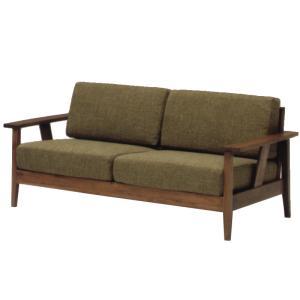 ナチュラル家具 オイル仕上げ 木肘ソファ elmo series エルモ 2.5Pソファ WN 自然塗料使用 ゆったりサイズの2.5人掛け|country-la-terre
