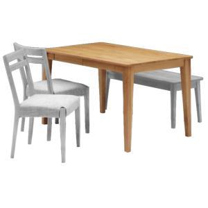 ナチュラル家具 ダイニングテーブル elmo series エルモ 140ダイニングテーブル NA エコウレタン塗装 テーブル|country-la-terre