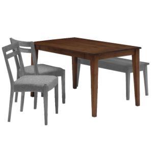 ナチュラル家具 オイル仕上げ ダイニングテーブル elmo series エルモ 140ダイニングテーブル WN 自然塗料使用 食卓|country-la-terre