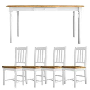フレンチスタイル フレンチカントリー マム フィンネル ダイニングテーブル5点セット MAM Fennel dining 5set カントリー家具 ダイニングセット 食卓セット|country-la-terre