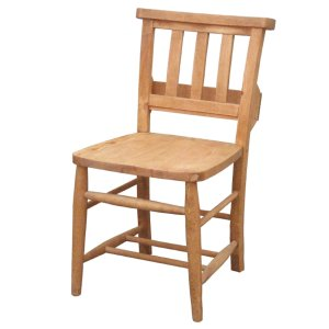 カントリー家具 ナチュラルカントリー Pine Furniture パインファニチャー チャーチチェア A002 食卓椅子 イス オスモカラー オイル塗装 パイン材無垢|country-la-terre