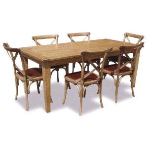 フレンチカントリー 180ダイニングテーブル 家具 7点セット / カントリー家具 シャビーシック アンティークスタイル フレンチシャビー|country-la-terre