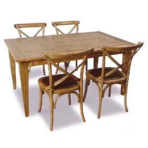 フレンチカントリー 150ダイニングテーブル 家具 5点セット / カントリー家具 シャビーシック アンティークスタイル フレンチシャビー|country-la-terre