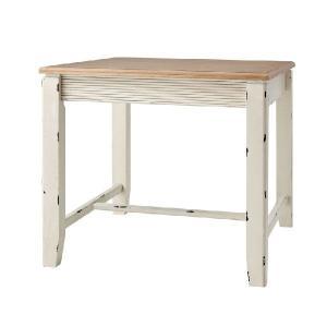 フレンチカントリースタイル Shabby ダイニングテーブル80 LTCOL-018 送料無料 シャビーシック ブロカント ラスティック 食卓テーブル|country-la-terre