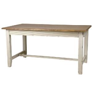 フレンチカントリースタイル Shabby ダイニングテーブル LTCOL-017 送料無料 シャビーシック ブロカント ラスティック 食卓テーブル|country-la-terre