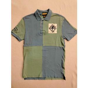 RUGBY(ラグビー)・Ralph Lauren(ラルフローレン)・ラガーシャツ・ポロシャツ・S・グリーン×ネイビー|countrypie