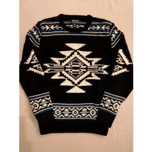 Polo Ralph Lauren ポロ ラルフローレン ネイティブ ニット セーター インディアン ブラック|countrypie
