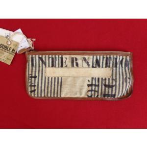 RRL ダブルアールエル Ralph Lauren ラルフローレン ストライプ ステンシル キャンバス ポーチ 小物入れ ウォレット 財布 バッグ|countrypie