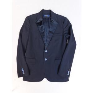 ポロ ラルフローレン Polo Ralph Lauren イタリア製 テーラード ジャケット ブラック Made In Italy フォーマル パーティ 黒 タキシード スーツ|countrypie