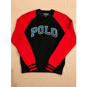 ポロ ラルフローレン Polo Ralph Lauren レタード ニット セーター ネイビー×レッド|countrypie