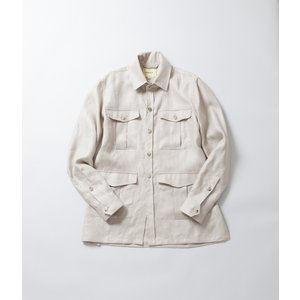 -FINAL SALE- DE BONNE FACTURE  ITALIAN LINEN TWILL SAFARI JACKET  リネンツイルサファリジャケット 40%OFF (クーポン使用でさらに10%OFF)|coupy2