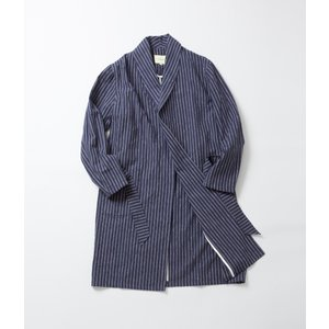 -FINAL SALE- DE BONNE FACTURE  LINEN & COTTON BLEND BATHROBE COAT  コットンリネン バスローブコート 40%OFF (クーポン使用でさらに10%OFF)|coupy2