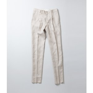 -FINAL SALE- DE BONNE FACTURE  ITALIAN LINEN TWILL ONE PLEAT TROUSERS  リネンツイル 1プリーツ トラウザー 40%OFF (クーポン使用でさらに10%OFF)|coupy2