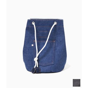 WESTOVERALLS ウエストオーバーオールズ 【DENIM BOX】 デニムボックスバッグ (ブルー/ブラック)|coupy2