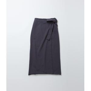 FilMelange フィルメランジェ  TAYLER  ラップスカート (グレー/スミクロ)|coupy2