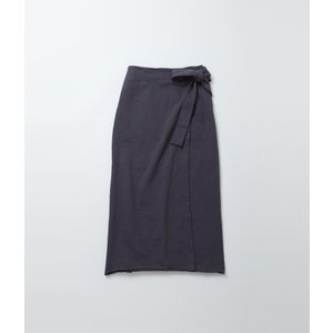 【OUTLET】FilMelange フィルメランジェ  TAYLER  ラップスカート (グレー/スミクロ) coupy2