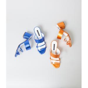 -FINAL SALE- FABIO RUSCONI ファビオルスコーニ メタリック クリア サンダル (オレンジ/ブルー)30%OFF (クーポン使用でさらに10%OFF)|coupy2