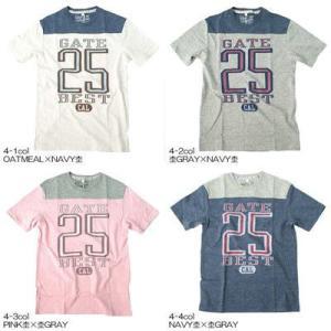 NO.25★フットボール切替★杢Tシャツ【FIRST PARKING】114-119 courage