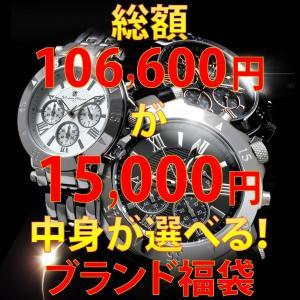 中身が見える 福袋 2020 総額106,600円が15,000円!中身が選べる ブランド品が2〜3本入る福袋! 腕時計 メンズ リュック 送料無料
