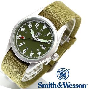 ミリタリー腕時計 メンズ スミス&ウェッソン SWW-1464-OD 正規品|courage