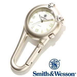 スミス&ウェッソン Smith & Wesson スイス ミリタリー時計 CARABINER CLASSIC WATCH SILVER SWW-36-SLV 正規品 送料無料|courage