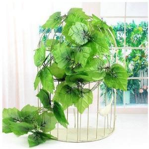 ブドウ葉 癒しの緑  ガーランド 造花 籐のつる ウェディング ガーデン 花柄 インテリア 2本 送料無料 courageshop