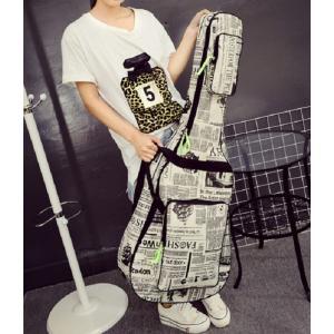 ギターケース ニュースペーパー ギグバッグ アコースティックギター ソフトケース  アメリカンおしゃれ 人気 英語 106cm|courageshop