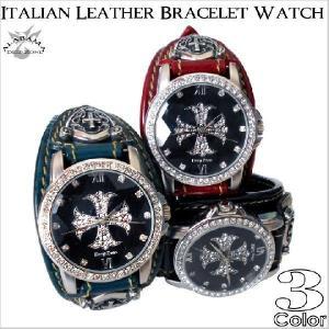 腕時計 メンズ イタリアンレザー革ベルト クロス文字盤 カジュアルウォッチ プレゼント ギフト|cowbell