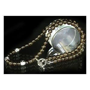 ネックレス メンズ スモーキークォーツ SilverMixトップ ネックレス プレゼント ギフト|cowbell