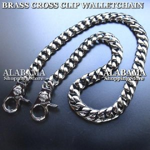 ウォレットチェーン レザーウォレット 真鍮 ブラス クローム クロスクリップ ウォレットチェーン [ALWC-157] プレゼント ギフト|cowbell