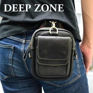 ヒップバッグ ウエストバッグ シザーバッグ ベルトポーチ メディスンバッグ Deep Zone ウエストポーチ メンズ 本革 レザー プレゼント ギフト|cowbell