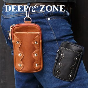 ヒップバッグ ウエストバッグ メンズ 本革 オイルレザー ベルトポーチ Deep Zone プレゼント ギフト|cowbell