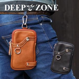 ヒップバッグ ウエストバッグ メンズ 本革 シュリンクレザー ベルトポーチ Deep Zone プレゼント ギフト|cowbell