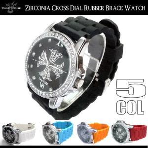 腕時計 メンズ ラバーベルト クロス文字盤 カジュアルウォッチ プレゼント ギフト|cowbell