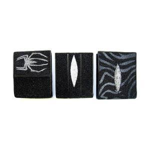 財布 二つ折り スティングレイ(エイ革)スキンウォレット [二つ折り財布] プレゼント ギフト|cowbell