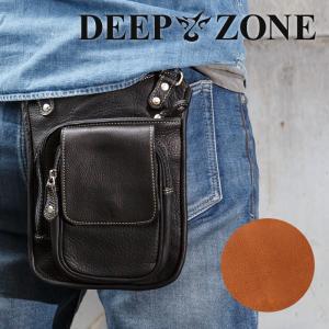 ベルトポーチ ヒップバッグ メンズ カジュアル ビジネス 本革 レザー ウエストバッグ 2WAYバッグ DEEP ZONE プレゼント ギフト|cowbell