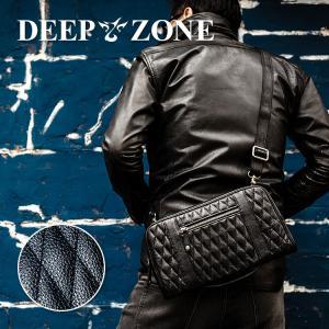 ショルダーバッグ メンズ 本革 レザー セカンドバッグ クラッチバッグ キルティング 大容量 DEEP ZONE プレゼント ギフト cowbell